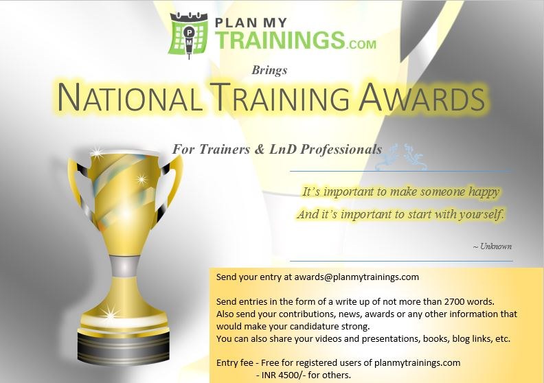 Awards for Trainers and Training professionals